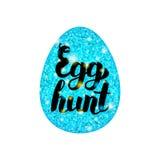 Blått ägg Hunt Greeting Arkivbilder