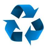 blått återanvändande symbol Arkivfoton