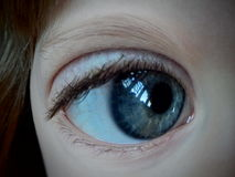 Blått öga för små flickor royaltyfri fotografi