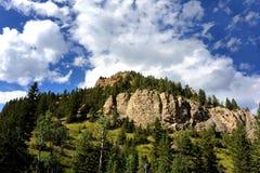 Blått överträffar Absaroka berg Fotografering för Bildbyråer