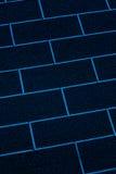 Blått abstrakt begrepp för closeup för tegelstenvägg Arkivfoto