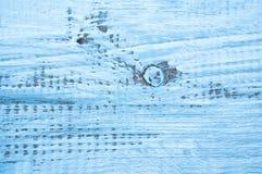 Blått abstrakt begrepp målade bakgrund med textur av brädet Arkivfoto
