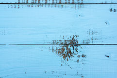 Blått abstrakt begrepp målade bakgrund med textur av brädet Horisontalramen Arkivbilder
