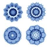Blått abstrakt symbol Royaltyfri Bild