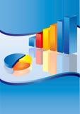Blått affärsdiagram royaltyfri illustrationer