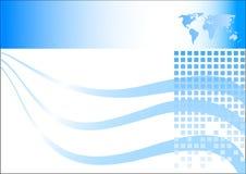 blått affärskort Arkivfoto