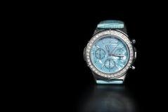 blått armbandsur Fotografering för Bildbyråer