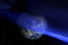 blått avstånd Arkivfoton