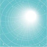blått avstånd Arkivfoto