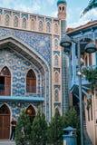 Blått bad i Abanotubani, Tbilisi arkivbilder