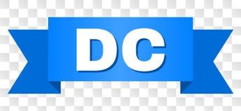 Blått band med DC-text vektor illustrationer