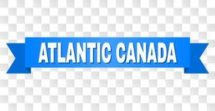 Blått band med den ATLANTISKA KANADA överskriften vektor illustrationer