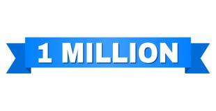 Blått band med 1 MILJON överskrift vektor illustrationer