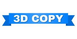 Blått band med titel för KOPIA 3D stock illustrationer