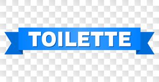 Blått band med TOILETTE-text stock illustrationer