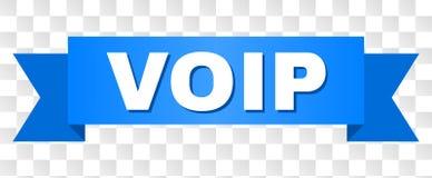 Blått band med VOIP text vektor illustrationer