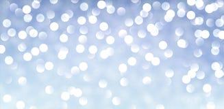 Blått baner med ljus Arkivbilder