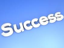 Blått begrepp för framgång Arkivbilder