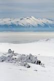 blått berg Arkivfoto