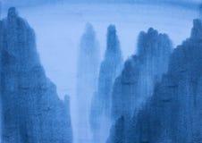 blått berg Royaltyfri Bild