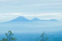 blått berg Royaltyfri Fotografi