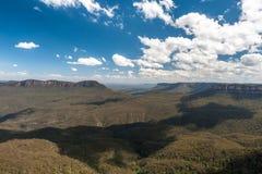 Blått berg i Sydney fotografering för bildbyråer