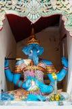 Blått 4 beväpnade Ganesha på Wat Doi Suthep Chiang Mai Thailand Royaltyfria Foton