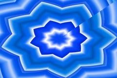 Blått bevattnar stjärnan Royaltyfria Foton