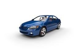 Blått bilperspektivskott Royaltyfri Bild
