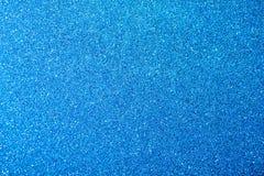 Blått blänker abstrakt bakgrund för texturjul Royaltyfri Foto