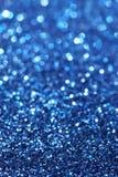 Blått blänker bakgrund för jul för blått för abstrakt begrepp för abstrakt bakgrund för jul Defocused Royaltyfria Foton