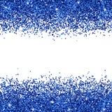 Blått blänker spritt på vit bakgrund vektor Arkivfoton