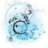 blått blom- för bakgrund Royaltyfri Bild
