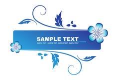 blått blom- för baner stock illustrationer