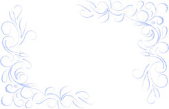 Blått blom- hörn vektor illustrationer
