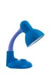 Blått bordlägger lampan Arkivbilder