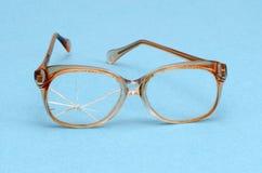 blått brutet retro galssesexponeringsglas för bakgrund Fotografering för Bildbyråer