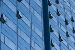 blått byggnadskontor Arkivbild