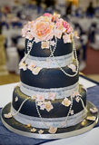 blått cakebröllop Arkivbilder
