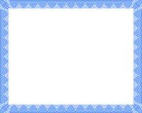 blått certifikat Arkivfoto
