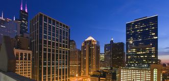 blått chicago dagslut Royaltyfria Foton