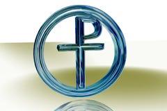 blått christipax-tecken Arkivfoton