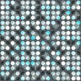 Blått cirklar seamless mönstrar Arkivfoto