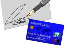 blått creditcard Royaltyfria Bilder