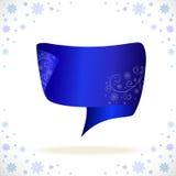 blått cristmasband för din affär Royaltyfri Foto