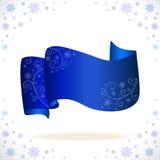 blått cristmasband med den frysa modellen Royaltyfria Foton