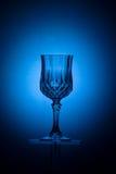 blått crystal exponeringsglas Arkivbild