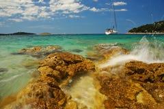 blått cyan hav Arkivfoto