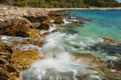 blått cyan hav Fotografering för Bildbyråer