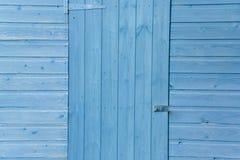 blått dörrskjul Royaltyfri Bild